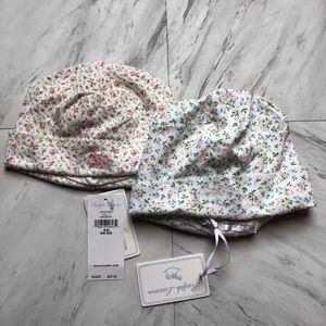 Ralph Lauren Floral Baby Hats (pack of 2)
